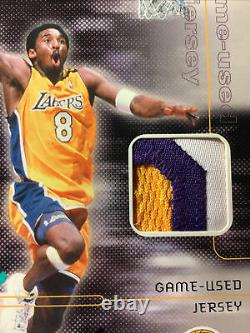 01 Kobe Bryant Actual Game Worn 3 Color Patch From #8 Auto 20/100 Rare Ud Coa