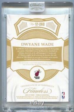 18-19 Flawless Dwyane Wade Autograph Vertical 3 Color Patch Auto #25/25 Encased