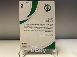 19 Immaculate Paul Pierce Patch Auto /34 Celtics 3color Patch Boston Celtics