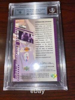 2000-01 UD Game Jerseys Kobe Bryant 2-Color Patch 2/8 BGS 8.5 with 10 AUTO