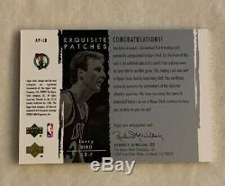2003 Exquisite Collection Larry Bird Celtics AUTO Two Color PATCH 022/100 #LB