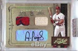 2004 Playoff Prime Cuts Albert Pujols Auto 3 Color Patch & Bat 5/5! His Number