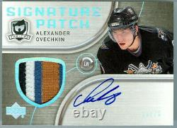 2005-06 Ud The Cup Alexander Ovechkin Auto Signature Patch Gu 4 Colour 20/75
