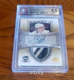 2005 UD The Cup Gold Rainbow Sidney Crosby ROOKIE 3 COLOR AUTO PATCH /87 BGS 8.5