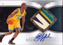 2006-07 Exquisite CHRIS PAUL Auto Autographed 4 Color Patch #d 100