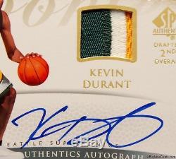 2007-08 Kevin Durant Upper Deck SP Authentic 3 Color RC Rookie Patch Auto /299