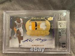 2007-2008 Kobe Bryant Chronology 3-color Patch Auto /35 BGS 8.5 AUTO 10 MVP year