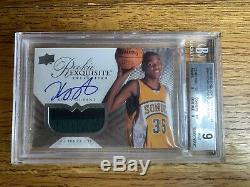 2007 Kevin Durant Exquisite /99 Rookie BGS 9/10 CRAZY 2 Color Patch! MVP KD Auto