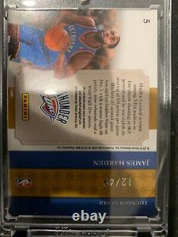 2009-10 National Treasures Gear James Harden RPA RC 3 Color Patch Auto #12/49