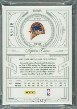 2009-10 National Treasures Stephen Curry RPA RC 3-Color Patch AUTO /99 PSA 10
