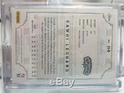 2012-13 Kawhi Leonard National Treasures Rookie Rc Auto Patch /199 3 Color