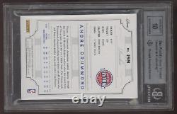 2012-13 National Treasures Andre Drummond 3 Color Patch RC Auto /199