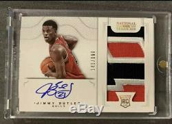 2012-13 National Treasures Jimmy Butler True RPA /199 Rc Auto Patch 3 Color SICK
