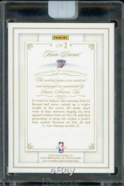 2012-13 Panini Flawless Kevin Durant 4 Color Game Used Patch AUTO 22/25 Thunder