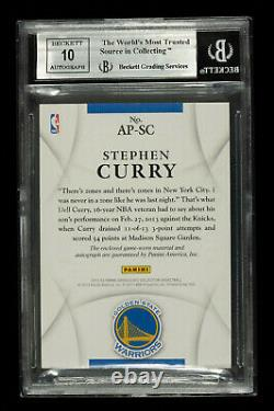2012 Immaculate Collection Stephen Curry 2-Color PATCH AUTO /100 BGS 9.0 /10