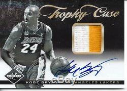 2012 Panini Limited Trophy Case Kobe Bryant Auto 2 Color Jersey Patch #ed 5/15
