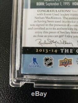 2013-14 Nathan Mackinnon Ud The Cup Rc Auto 3-color Patch Rookie 71/99 Rpa Avs