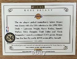 2013-14 National Treasures Lasting Legacies Kobe Bryant 3 Color Patch Auto 01/10