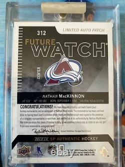 2013-14 Sp Authentic Nathan Mackinnon Future Watch Auto Patch Rookie 4 Color Fwa