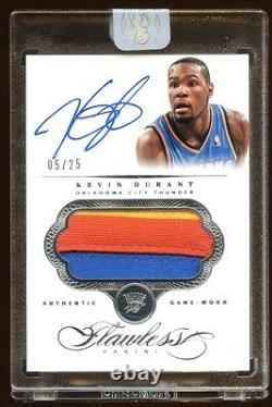 2013 Flawless Kevin Durant Auto 3 Color Jumbp Patch Logo #d /25 Brooklyn Star