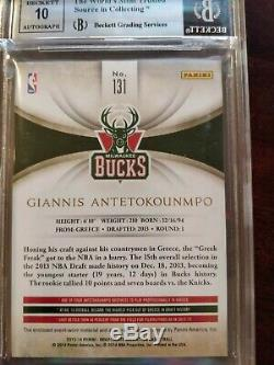 2013 Immaculate Giannis Antetokounmpo ROOKIE RC AUTO PATCH /99 BGS 9 4-Color