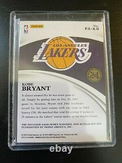 2014-15 Immaculate KOBE BRYANT Patch Autograph 32/75 lakers SP Auto 3 COLOR