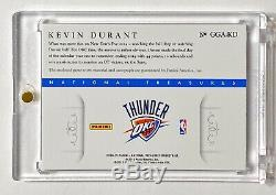 2014-15 National Treasures KEVIN DURANT #3/10 NBA Game Gear 3 Color Patch Auto