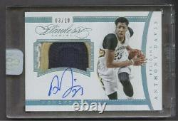 2014-15 Panini Flawless Momentous Anthony Davis 3-Color Patch AUTO 3/20
