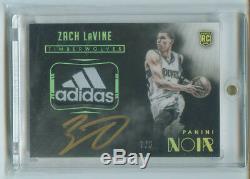 2014-15 Panini Noir Zach Lavine Rookie Patch Auto Color Acetate Tag Auto /5 Gold