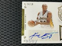 2014-2015 Kobe Bryant National Treasures 3 Color Patch Auto /10 Lakers Signed