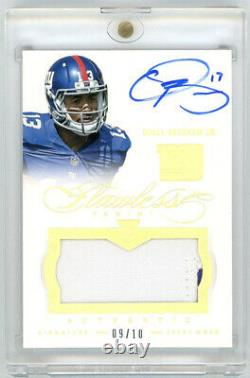 2014 Flawless Odell Beckham Jr Rookie 2 Color Patch Auto RPA RC GOLD /10