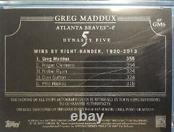 2014 Topps Dynasty Greg Maddux 1/1 Gold On Card Auto Autograph 6 Color Patch