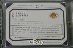 2015-16 National Treasures D'Angelo Russell Lakers RPA RC 3-Color Patch AUTO /99