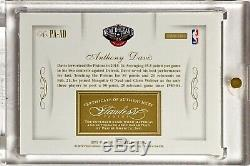 2015-16 Panini Flawless ANTHONY DAVIS /10 Sapphire 3 Color Patch On-Card Auto