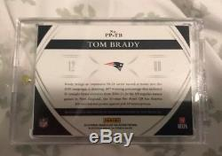 2015 Immaculate Sick Tom Brady 4 Color 6 Break Logo Patch Auto Gold #6/10 Ssp
