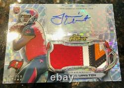 2015 Jameis Winston Topps Finest Rookie Patch Auto numbered 04/20 5 color patch