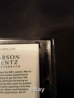 2016 National Treasures Carson Wentz RMS-CW 12/25 5 Color Eagle Patch Auto