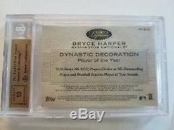 2016 Topps Dynasty Bryce Harper 2 Color Patch Auto Autograph 1/1 BGS 9.5 10 one