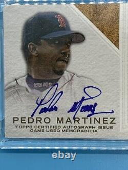 2016 Topps Dynasty PEDRO MARTINEZ Auto Game Used 3 Color Patch /10 HOF Red Sox