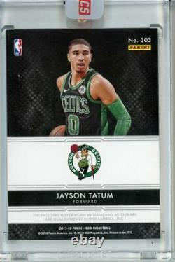 2017-18 Panini Noir Jayson Tatum Color RPA RC Rookie Patch Auto #/99 Celtics