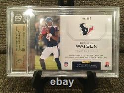 2017 Certified Deshaun Watson Gold 2 Color Patch Auto /25 BGS 9.5 GEM MINT With10