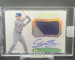 2017 Flawless CODY BELLINGER RC AUTO RPA-CB GOLD GAME USED 2 COLOR PATCH SP 5/10