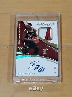 2017 Immaculate Bam Adebayo Auto RC True RPA 3 Color Patch SSP /10 Top Card