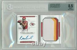 2017 National Treasures Patrick Mahomes /99 Auto Patch RPA 3 Color RC Booklet
