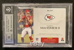 2017 PATRICK MAHOMES Certified RED 3-Color Patch Rookie AUTO /75 BGS 9! 10 Auto