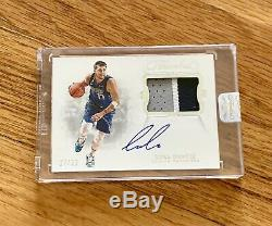 2018-19 Flawless Luka Doncic Rookie RPA RC 3-Color GAME WORN Patch AUTO /25