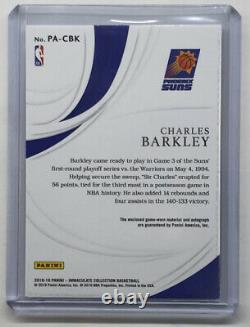 2018-19 Immaculate Patch Auto Jersey Number Charles Barkley /34 Refractor 3Color