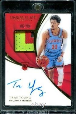 2018-19 Immaculate RPA Trae Young 3 Color RC Patch Auto 06/99 RARE ROOKIE