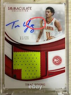 2018-19 Immaculate Trae young Rookie Color Patch Auto RPA 11/25 1/1 Hawks RC
