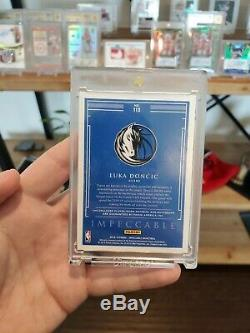 2018-19 Impeccable Gold Luka Doncic Rookie RPA On Card Auto /10 3 Color Patch